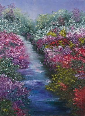 Impressionistic Landscape Painting - Splash Of Spring by Darice Machel McGuire