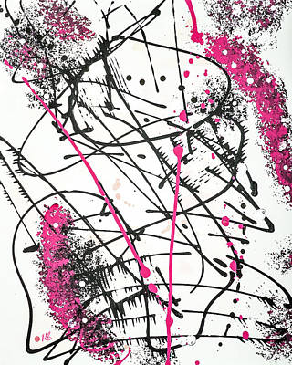 Gallery Wrap Painting - Splash Pink by Melissa Smith