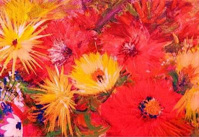 Splashy Floral II Print by Anne-Elizabeth Whiteway