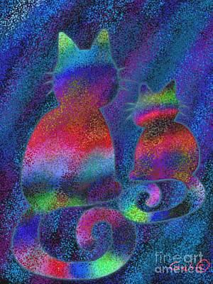 Splatter Cats Print by Nick Gustafson