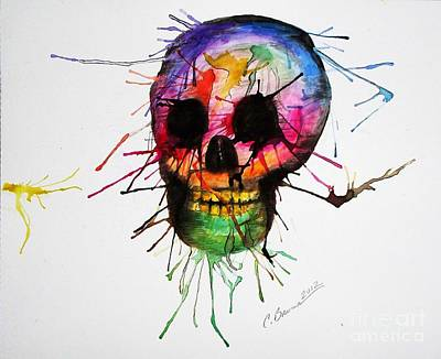 Painting - Splatter Skull by Christy Bruna