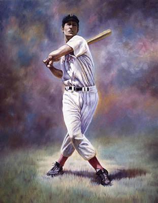 Home Run Hitter Mixed Media - Splendid Splinter by Gregory Perillo