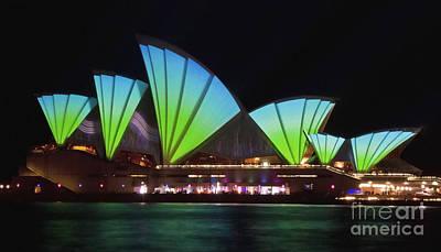 Photograph - Splice Sails - Sydney Vivid Festival - Sydney Opera House by Bryan Freeman
