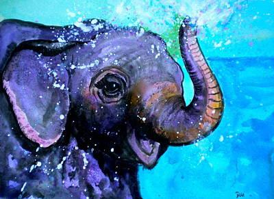 Splish Splash Print by Debi Starr
