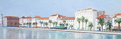 Old Street Painting - Split Croatia Adriatic Coast by Jan Matson