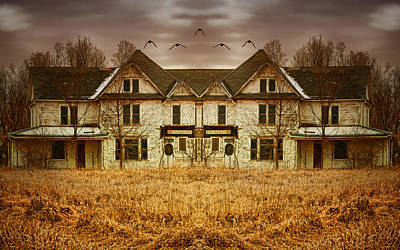 Abandoned House Digital Art - Split Personality by Nikolyn McDonald