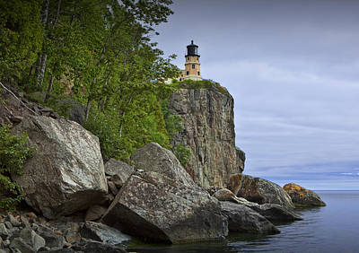 Splitrock Lighthouse In Minnesota No. 4448 Print by Randall Nyhof