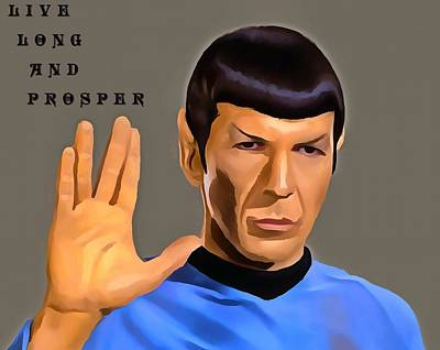 Spock Live Long Print by Dan Sproul