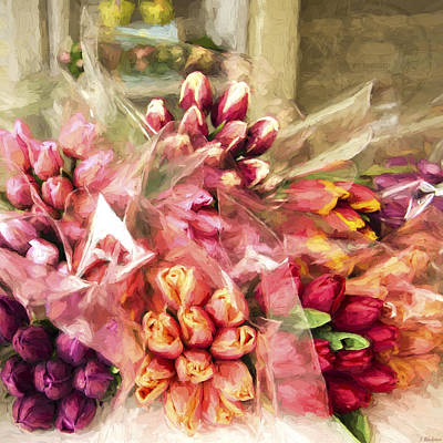 Tulip Festival Painting - Spoken Without Sound - Flower Art by Jordan Blackstone