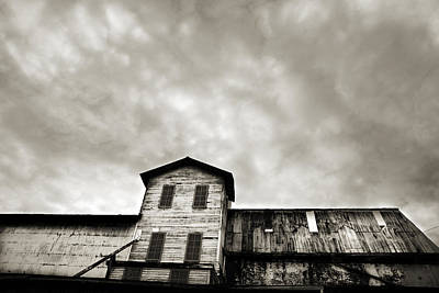 Antique Photograph - Spooky Grain Elevator by Marilyn Hunt