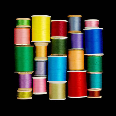 Seamstress Photograph - Spools Of Thread by Jim Hughes
