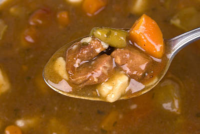Spoon Full Of Soup  Print by Joe Belanger