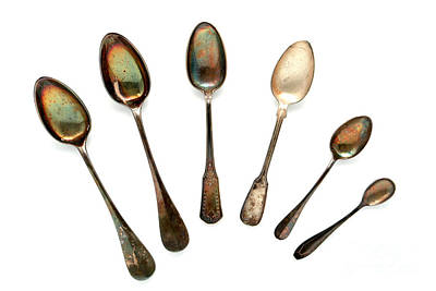 Spoons Print by Olivier Le Queinec