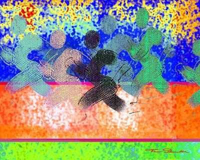 Jogging Digital Art - Sport B 9 C by Theo Danella