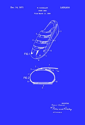 Wrap Drawing - Sport Shoe Patent 1971 by Mountain Dreams