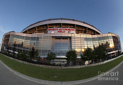 Sports Authority Field At Mile High Print by Juli Scalzi