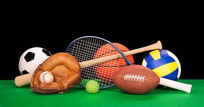 Sports Equipment Print by Joe Belanger