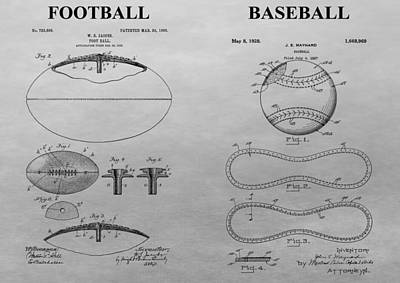 Sports Mixed Media - Sports Equipment Patent by Dan Sproul