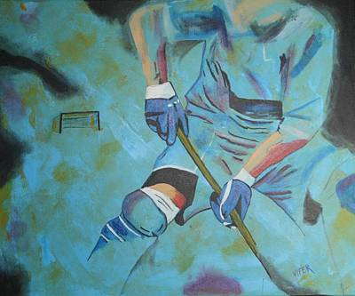 Sports Hockey-2 Print by Vitor Fernandes VIFER