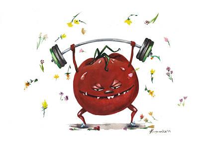 Moscow Mixed Media - Sporty Tomato by Alina  Kuzmenko
