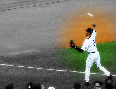 Derek Jeter Digital Art - Spotlight On Derek Jeter 2 by Aurelio Zucco