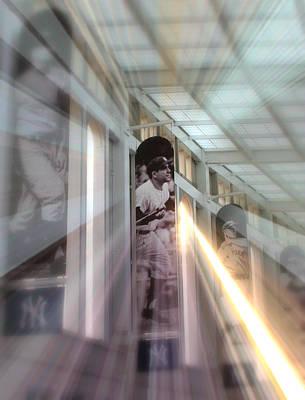 Yankee Stadium Digital Art - Spotlight On Yogi by Aurelio Zucco