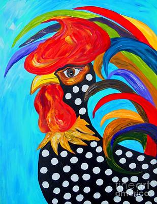 Chickens Painting - Spots by Eloise Schneider