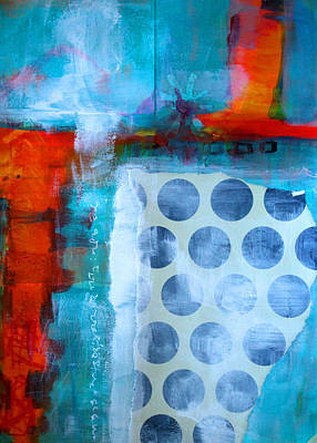 Abstract Collage Painting - Spotted Fever 2 by Nancy Merkle