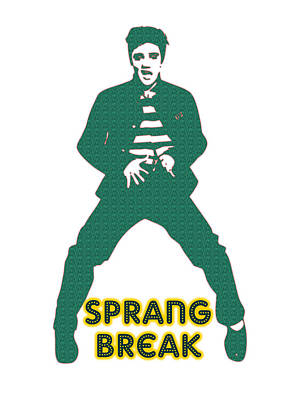 Elvis Presley Digital Art - Sprang Break by Adam Asar