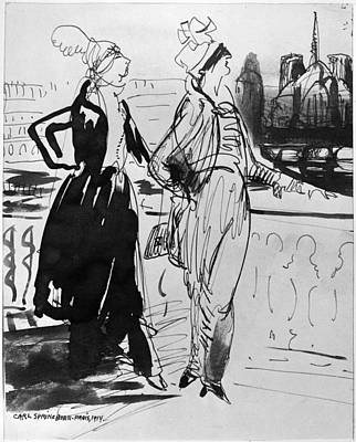 Belle Epoque Drawing - Sprinchorn Women, 1914 by Granger