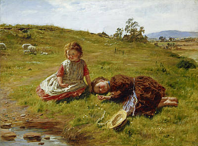 Shepherdess Painting - Spring by William McTaggart