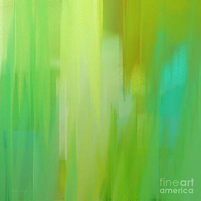 Abstracts Digital Art - Spring 3 Abstract Square by Andee Design