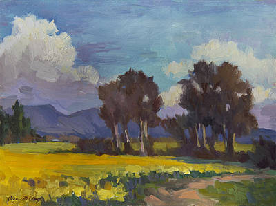 High Desert Painting - Spring And Daffodils by Diane McClary