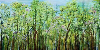 Spring Arpeggio Print by Regina Valluzzi