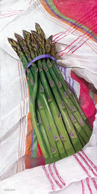 Asparagus Painting - Spring Asparagus by Cristine Kossow