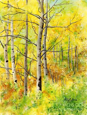 Early Spring Painting - Spring Aspens by Hailey E Herrera