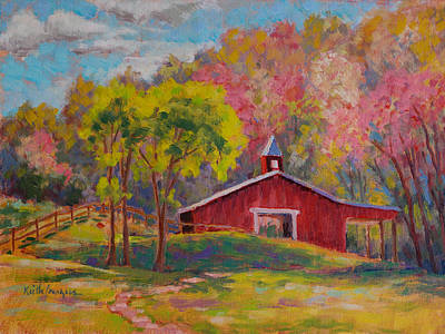 Spring At Horse Creek Stable Original by Keith Burgess