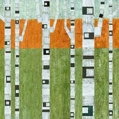 Spring Birches Print by Michelle Calkins