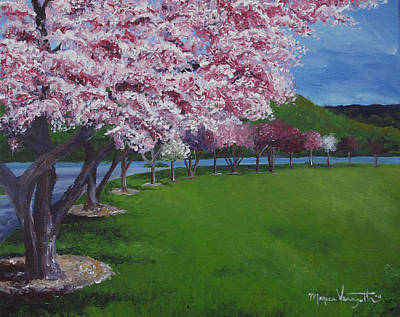 Spring Blossoms Print by Monica Veraguth
