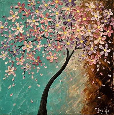 20x20 Painting - Spring Blossoms by Tomoko Koyama