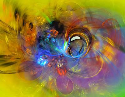 Spiritual Digital Art - Spring Bubble - Abstract Art  by Modern Art Prints
