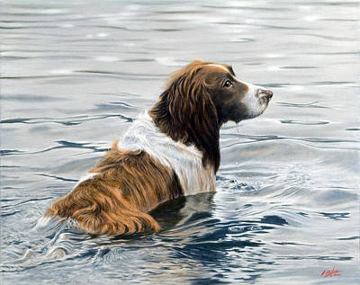 Springer Spaniel Painting - Spring Cleaning by John Silver