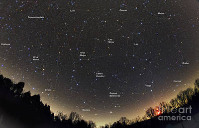 Virgo Photograph - Spring Constellations And Star Colors by John Chumack