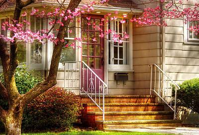Spring - Door - Dogwood  Print by Mike Savad