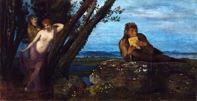 Arnold Boecklin Painting - Spring Evening by Arnold Boecklin