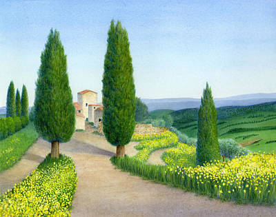 Italian Landscape Painting - Spring Fever by Diane Cardaci