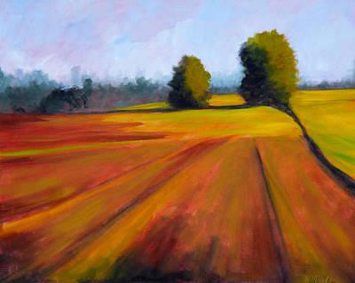 Prairie Sky Painting - Spring Field by Nancy Merkle