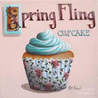 Spring Fling Cupcake Print by Catherine Holman