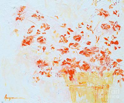 Interior Still Life Painting - Spring Flowers IIi by Patricia Awapara