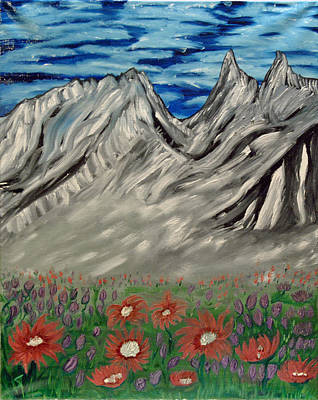 Painting - Spring Flowers In The Mountians by Suzanne Surber